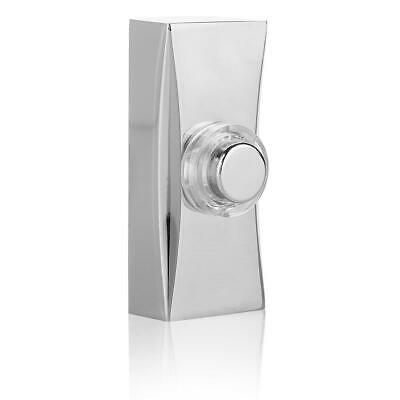Byron 7960C Wall Mounted Wired Illuminated Lit Door Bell Push - Chrome Plated