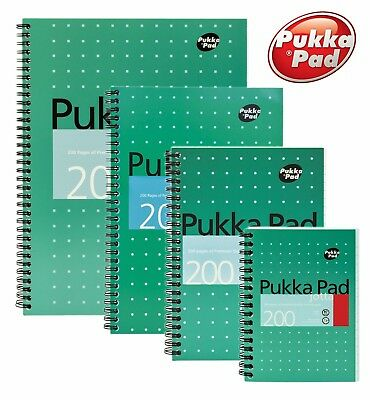 Pukka Pad A4 A5 A6 B5 Ruled or Squared Metallic Jotta Notebook 200 Page 80gsm
