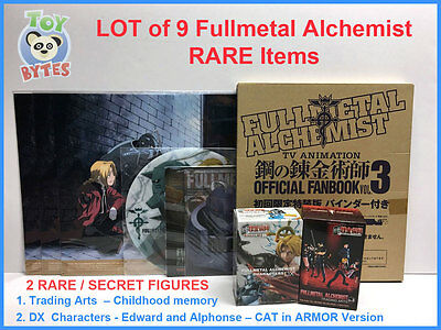 Fullmetal Alchemist Trading Arts Childhood & DX Organic SECRET FIGURE binder LOT