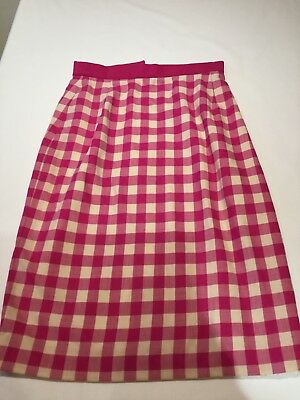 Pink Checked Vintage Skirt Small