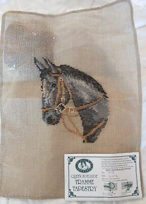 BRAND NEW QUEEN ADELAIDE Trammed TAPESTRY CANVAS & WOOL No. 1816 Horse