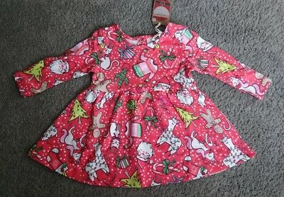 BNWT Baby girls Christmas dress From Next Age 3-6 months Xmas