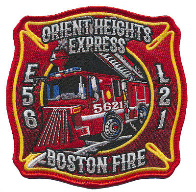 Boston Fire Dept. E-56 L21 Orient Bheights Express (New August 2018) Fire Patch