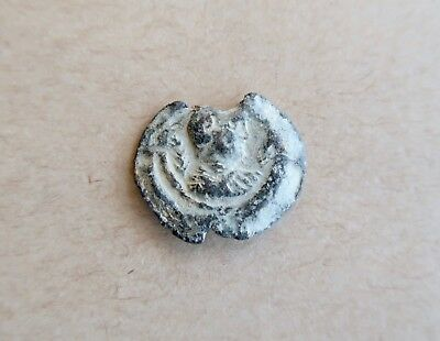 BYZANTINE LEAD SEAL/ BLEISIEGEL, OF ANTIOCHUS (6th c.). VERY NICE PIECE!
