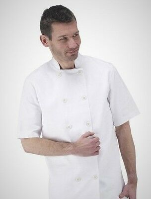 New White Chef Jackets With Rubber Button In Half Sleeve And Full Sleeve Unisex