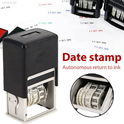 CA8A 64D9 Roller Date Stamp Date Stamps Stamping Mud Set English Convenient