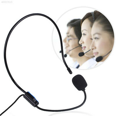 6A6E Teacher Wired Headset Microphone Mic For Amplifier Loudspeaker Teaching