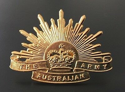 Australian Army Rising Sun Collar Badge Replica + FREE Postage