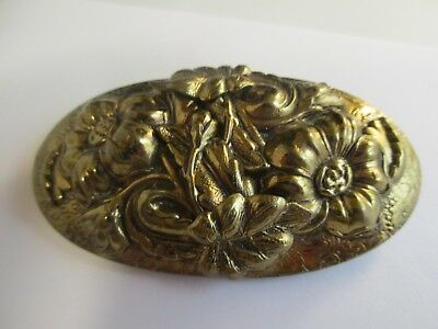 Lovely Antique Victorian/Edwardian/Period Brass Brooch Great Condion~Ornate