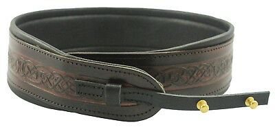 Brown Pro Banjo Leather Strap Cradle By Leathergraft Genuine Leather Made In UK