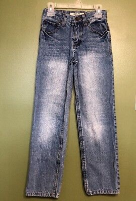 Junior Boys Cherokee Size 10 S Straight Fit Adjustable Waist Denim Jeans Guc