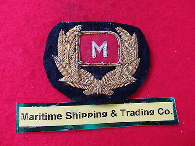 "Merchant Navy Officers cap badge ""Maritime Shipping & Trading"" London.1942-1974"