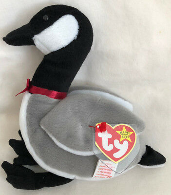 Ty Beanie Baby Doll- Loosy The Goose EUC 1998 Free Shipping 624