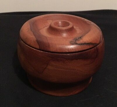 """BEAUTIFUL """"Brown"""" Classic Wooden Canister Box Wood Trinket Bowl with Lid"""