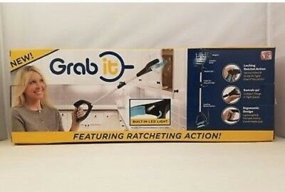 Grab it Reaching Tool Featuring Ratcheting Action with LED light FREE SHIPPING
