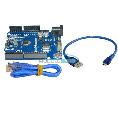 Newest Version Arduino UNO R3 ATMEGA328P-16AU CH340G Micro USB With Cable