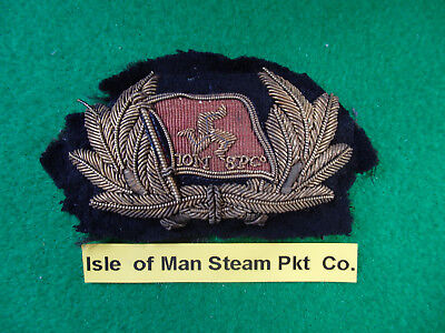 "Merchant Navy Officers cap badge ""Isle of Man Steam Packet Co.Ltd.""Douglas"