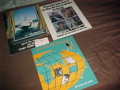 Vietam Era Recruitment Posters  -  Unused -  Ocs - Coast Guard - 1968-1972
