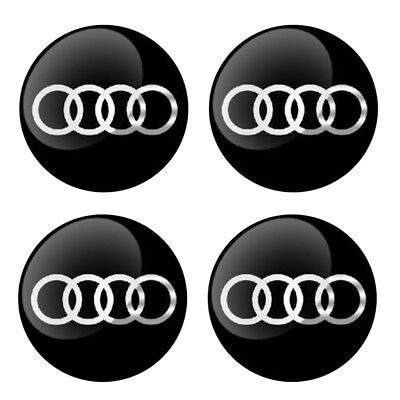 "4x 56mm 2.2"" Auto Car Wheel Center Hub Cap Emblem Badge Decal Sticker for Audi"