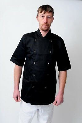 Chef Coats Chef Jacket In White & Black Colour Unisex Press Studs Good Quality