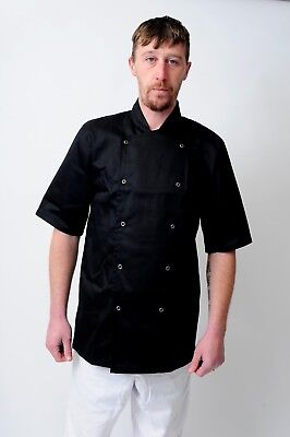 Chefs Coat Chef Jacket In White & Black Colour Unisex Press Studs Good Quality