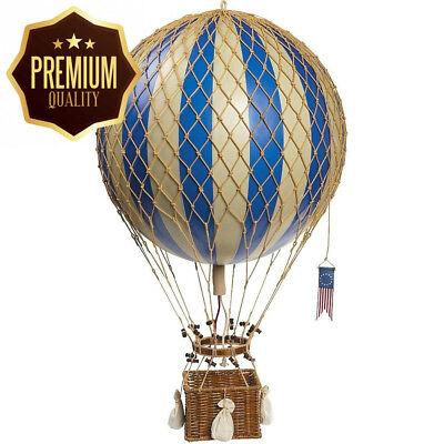 Blue Royal Aero - Hot Air Balloon Model - Features Hand-Knotted Netting and...