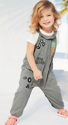 NEXT Baby Girls Grey Ruffle Jumpsuit Playsuit Age 18-24 Months  BNWT