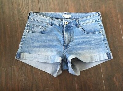 Cute H&M Ladies Denim Shorts 36 (UK 8 But Fit 8-10) Worn Once!