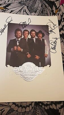 Osmonds Signed book