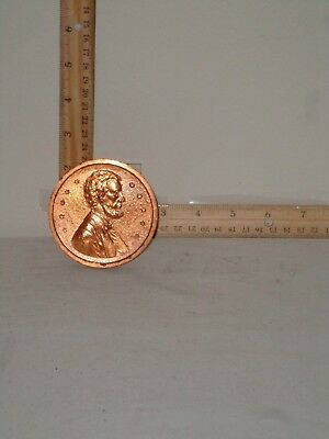 Shiny, Copper County, Lincoln Souvenior Metal Penny Oversized