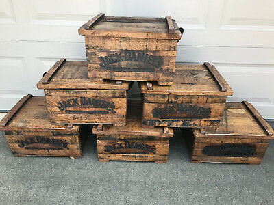 (1) Jack Daniels Tennessee Whiskey White Oak Barrel Box Chest Radomly Selected