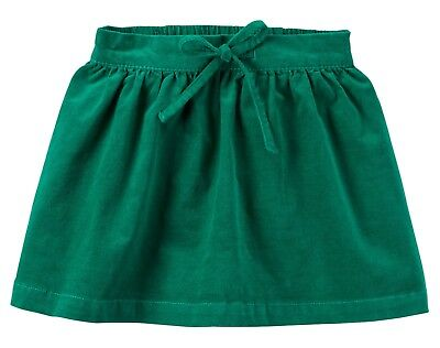 NWT Carters 5 Green Cord Skirt Stretchy Corduroy with Elastic Waistband