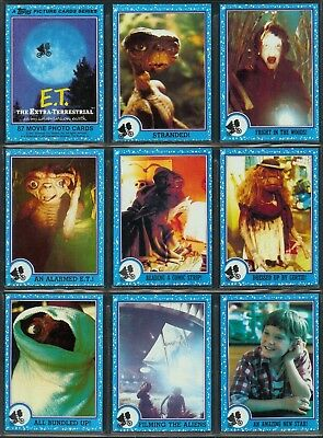 Et The Extra-Terrestrial - A Complete Topps 1982 Set + Sticker Set + Wrapper
