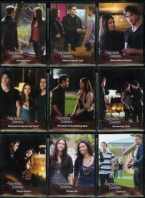 The Vampire Diaries Season 1 - A Complete Cryptozoic 2011 Trade Card Set