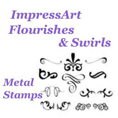 ImpressArt Flourishes Theme Metal Stamp Punches Stamping Tools Choose Design