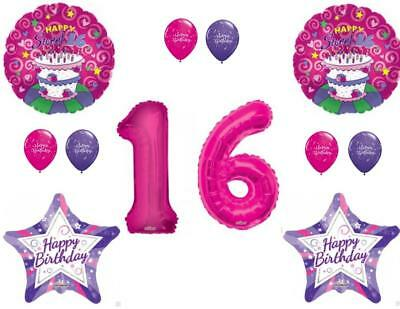 Sweet 16 Cake 16th Birthday Party Balloons Decoration Supplies Sixteen