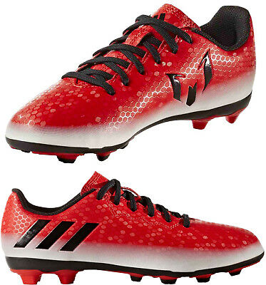 Adidas B Grade MESSI 16.4 FxG Football Boots Boys Girls Kids Red White New Boxed