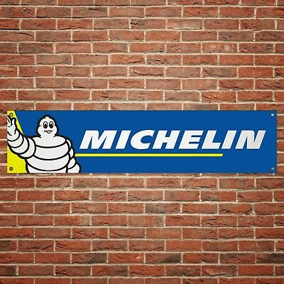 Michelin Tyres Banner Garage Workshop PVC Sign Trackside Display