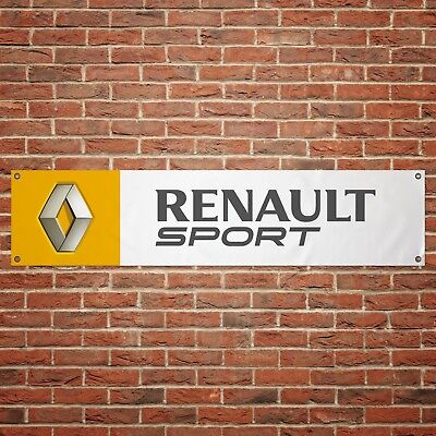 Renault Sport Banner Garage Workshop PVC Sign Trackside Display Clio Cup