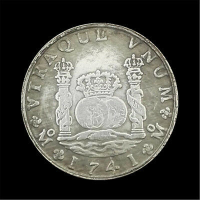 38mm 1741 Spanish Columns Double-side Commemorative Coin Collection Gift