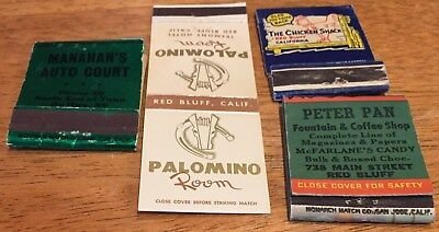 Vtg Matchbook Covers. Lot Of 4 Red Bluff, California