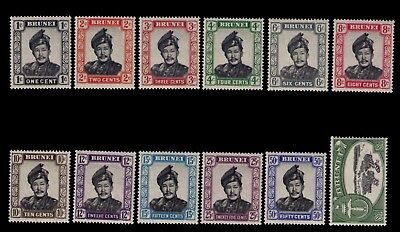 Brunei EARLY stamps SC# 101-12 Cpl.MLH set CV:$28.00