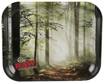 AUTHENTIC RAW FOREST Cigarette Tobacco Metal LARGE Rolling Tray 14x11