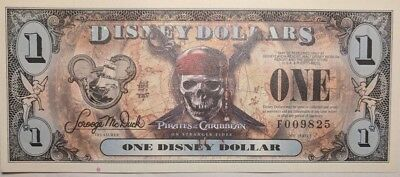 Scarce 2007 Empress Pirate Disney Dollars  ** Low 4 Digit