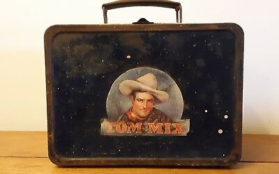 Old VERY RARE lunch box....WESTERN Tom Mix