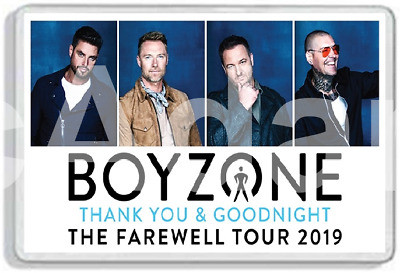 Boyzone Thank You And Goodnight The Farewell Tour 2019 Fridge Magnet Uk Seller
