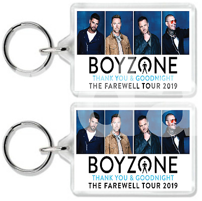 Boyzone Thank You And Goodnight The Farewell Tour 2019 Keyring Uk Seller