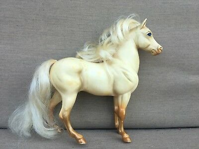 Breyer Traditional Highland Pony REAL TAIL AND MANE -BLUE EYES GOLD LEGS