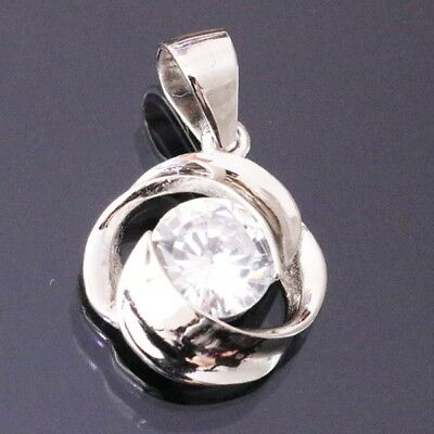 Unique 1 Ct Round Cut Diamond Pendant Charm Jewelry Gift SOLID 14k White Gold