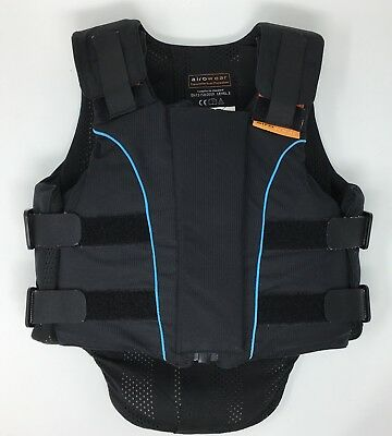 Airowear Horse Riding Body Protector Black Junior Outlyne, Size Y2 Long, Level 3
